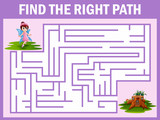 Maze game finds the fairy fly away to the home
