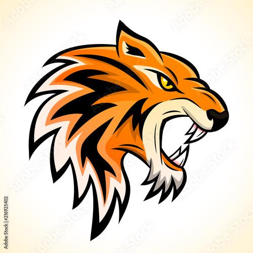 Fototapeta Vector tiger head mascot concept