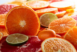 Close up of citrus fruits.