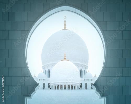 Passage of Sheikh Zayed Grand Mosque Abu-Dhabi