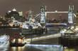 Tower Bridge in London city. night scene