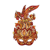 vector carnival golden mask for theater and festivals - 216933861