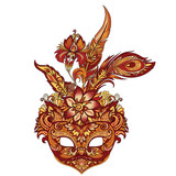 vector carnival golden mask for theater and festivals - 216933878