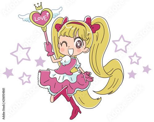 魔法少女のイラスト - 216934861