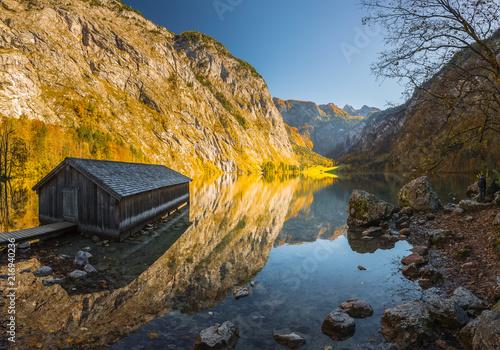 Foto Spatwand Honing Bavarian landscape in autumn