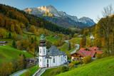 Bavarian landscape in autumn
