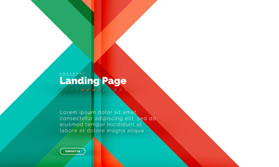 Square shape geometric abstract background, landing page web design template © antishock