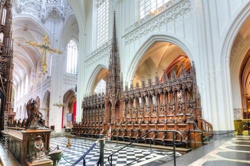 In de dag Antwerpen Cathedral of Our Lady interior, Antwerp, Belgium