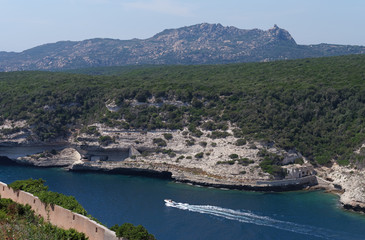 White cliffs  and Bonifacio  Fjord  in corsica © hassan bensliman
