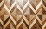 Natural wooden parquet flooring design - 216953806