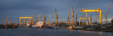 industrial areas of the shipyard in Szczecin in Poland,high resolution panorama - 216954437