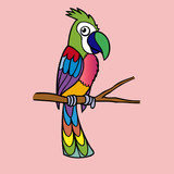 parrot icon,vector drawing
