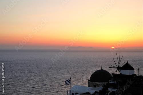 Tramonto sull'isola greca