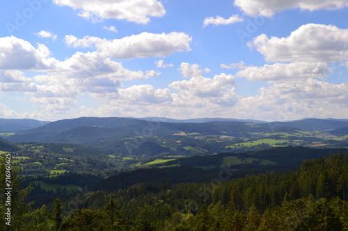 Canvas Blauwe hemel Landscape