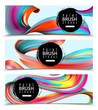Paint Brush Strokes Horizontal Banners