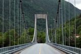 Erfjord Bridge, a suspension bridge in Rogaland county, Norway. It crosses Erfjorden on the 13th road between Bergen and Stavanger.