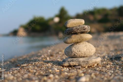 In de dag Zen Stone balancing