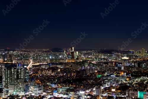 Foto Spatwand Seoel Seoul bei Nacht