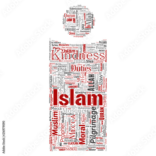 Vector conceptual islam, prophet, mosque letter font I red