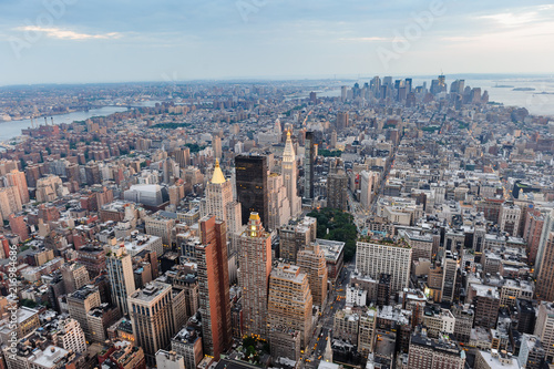 Aluminium New York New York Cityscape. Aerial view.Panoramic. Manhattan.