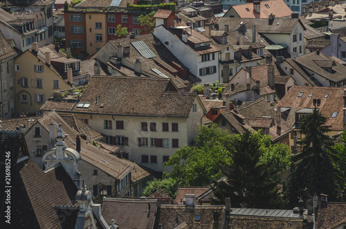 View on Zürich rooftops