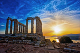 The Temple of Poseidon at Sounion, Greece, near Athens - 216988667