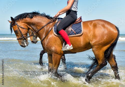 les pieds dans l'eau