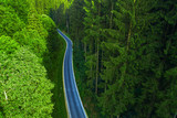 Verkehrsweg durch einen Wald
