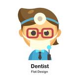 Dentist Flat Illustration
