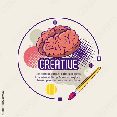 Kreatywnie kolory i pomysły plakatowi z ewidencyjnym wektorowym ilustracyjnym graficznym projektem