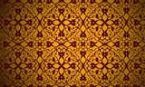 Arabesque, motif floral - 217001470