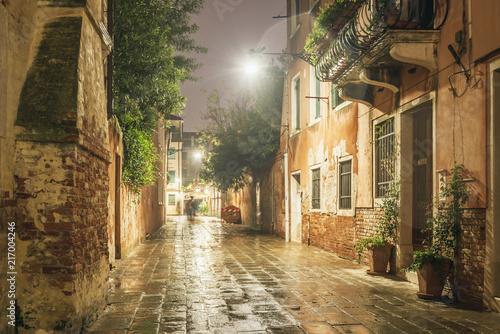 Fototapeta rainy night in Venice