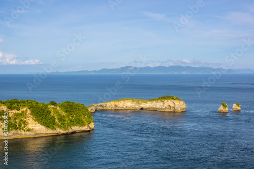 Coast of the Tropical Island and Two Islets