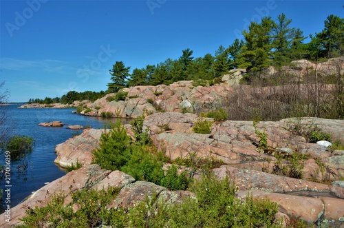 Foto Spatwand Zalm Killarney Provincial Park, Ontario