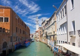Beautiful romantic Venetian cityscape with canal