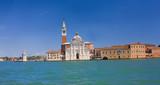 Panoramic view of Venice with San Giorgio Maggiore church