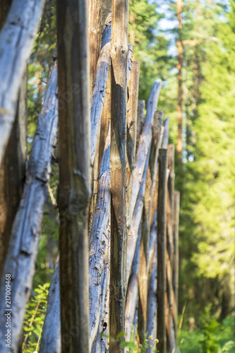 Canvas Bamboe Fence from wooden rods.