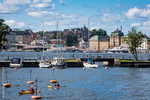 Foto Spatwand Stockholm Blick auf die schwedische Hauptstadt Stockholm