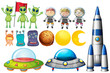 Set of space themed objects - 217012652