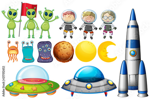 Canvas Kids Set of space themed objects