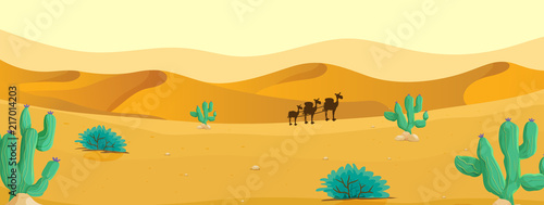 Fototapeta Camel at the desert
