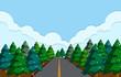A beautiful road landscape