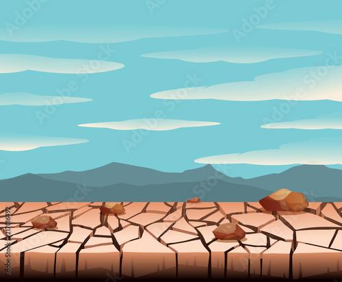 Fotobehang Kids A dry land landscape