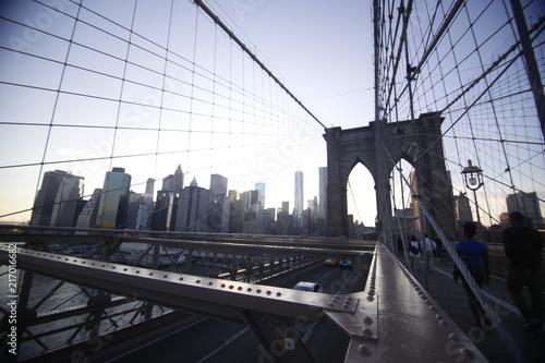 Plexiglas Brooklyn Bridge New York