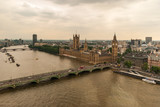 The Palace Westminster or The Parliament with the River Thames in London, United Kingdom