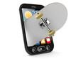 Skateboard inside smart phone