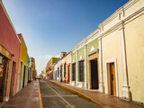 Spanish colonial style buildings in Mexico - 217027844