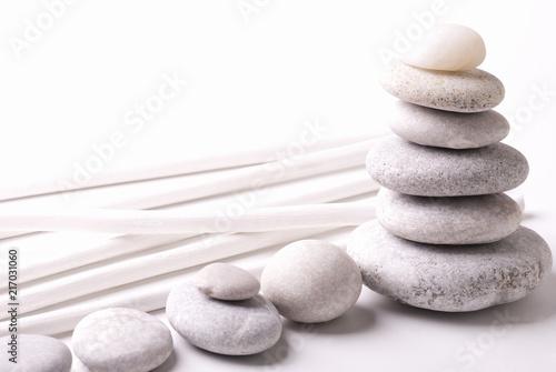 In de dag Zen White zen stones