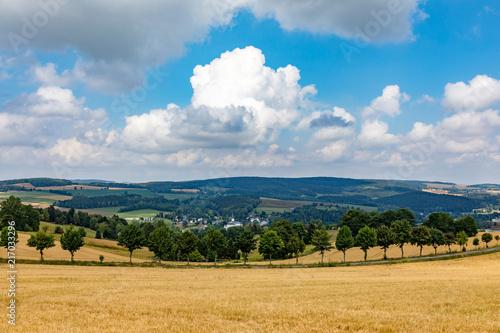 Landscape at the Schwartenberg in the Erzgebirge