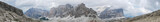 Panorama in the dolomies, alps, mountains with clouds and rough rocks